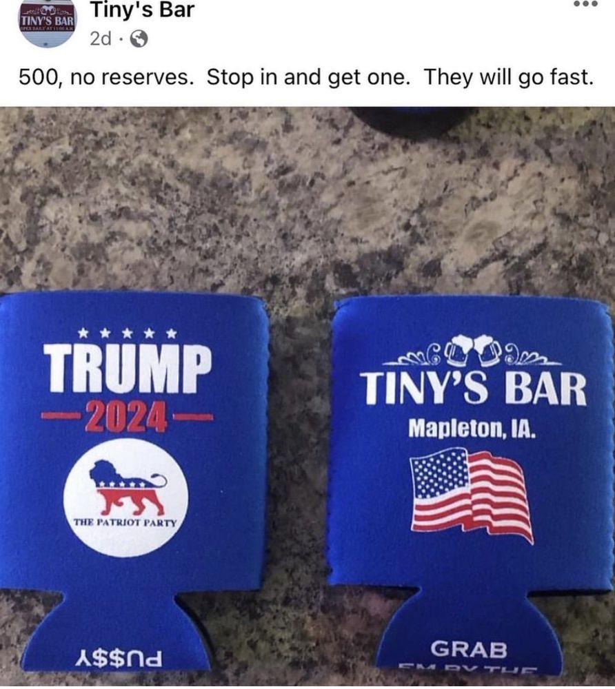 Tinys Bar: 604 Ring St, Mapleton, IA