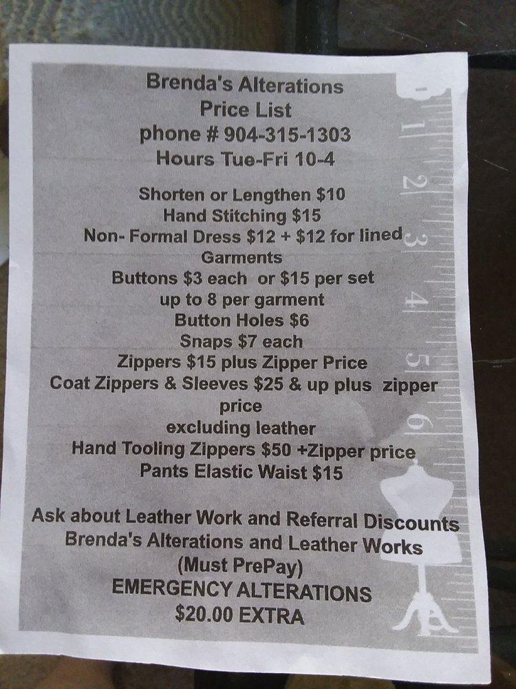 Brenda's Alerations & Leather Works: 910 St Johns Ave, Palatka, FL