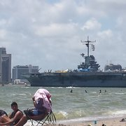 Photo Of North Beach Corpus Christi Tx United States An Old Warship