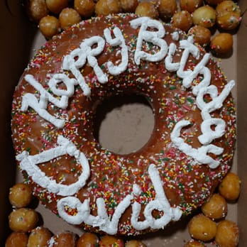 Bills Donuts Birthday Cake