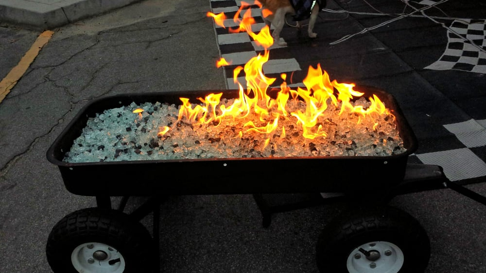 New travel fire pit for the toy hauler. Want a unique ...