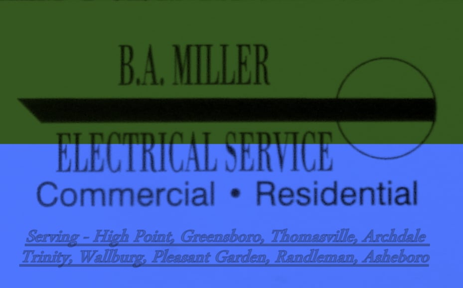 B A Miller Electrical Service: 206 Naola Ct, Archdale, NC