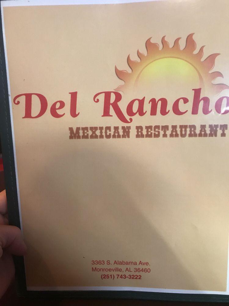 Del Rancho Mexican Restaurant: 3363 S Alabama Ave, Monroeville, AL