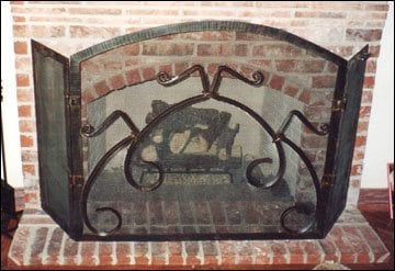 Custom wrought iron fireplace screen yelp for Custom wrought iron fireplace screens