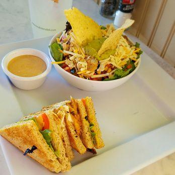 ... , MI, United States. Cobb salad and grilled chicken club sandwich