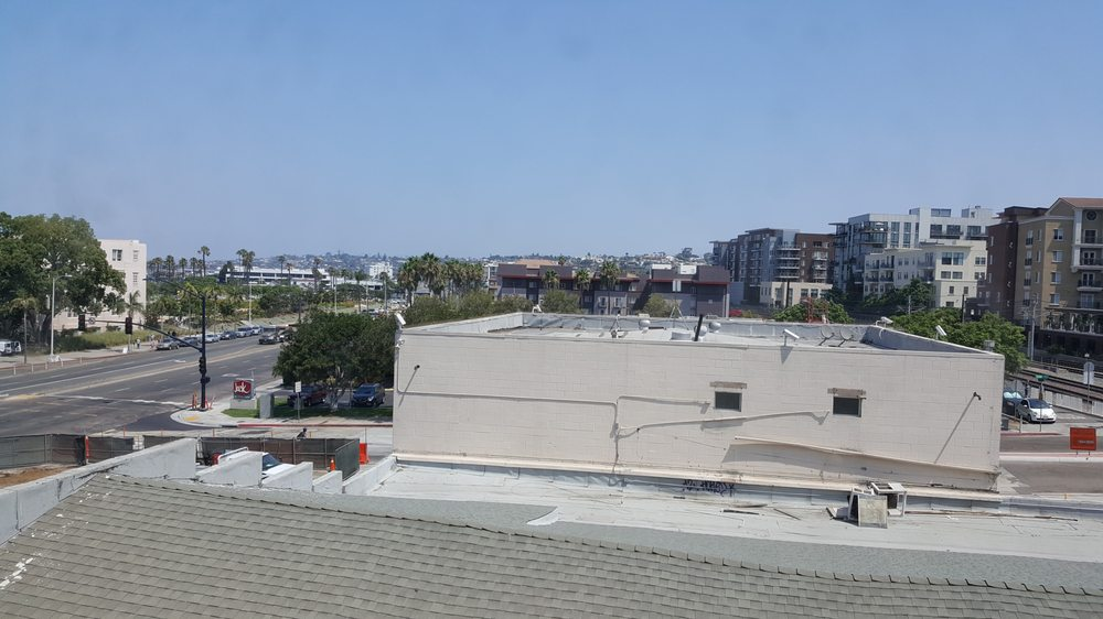 view from my room at hampton inn downtown san diego yelp. Black Bedroom Furniture Sets. Home Design Ideas