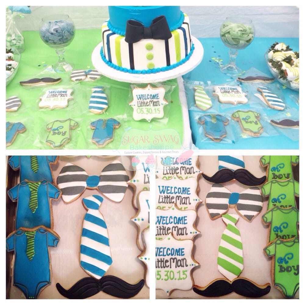 Little Man Themed Baby Shower Cookies Yelp