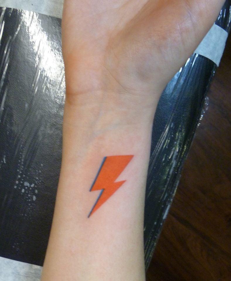 david bowie lightning bolt as done by john lemon of bound