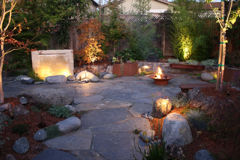 Photo Of Dryscape   Woodacre, CA, United States. Permeable Slate Patio With  Water