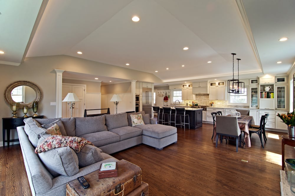 Whole Home Renovation W Vaulted Ceiling Over Kitchen Dining