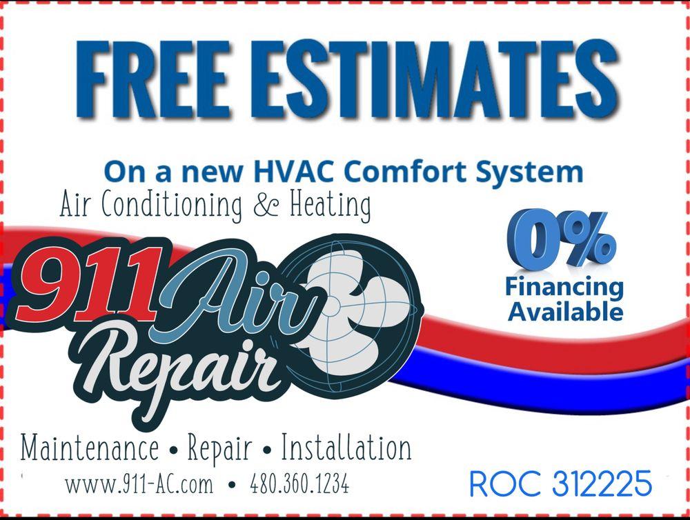 911 Air Repair: 20625 N Ancon Ave, Maricopa, AZ