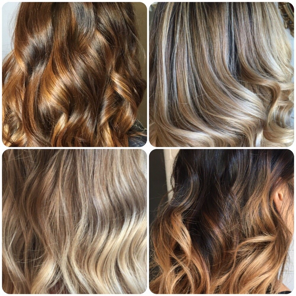 Various Tonesshades Of Balayage By Celia Depending On Natural