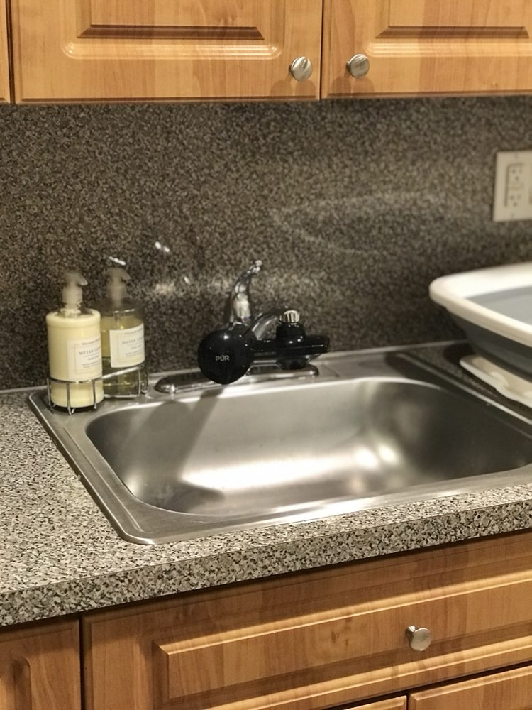Sparkling clean kitchen sink for a customer. - Yelp