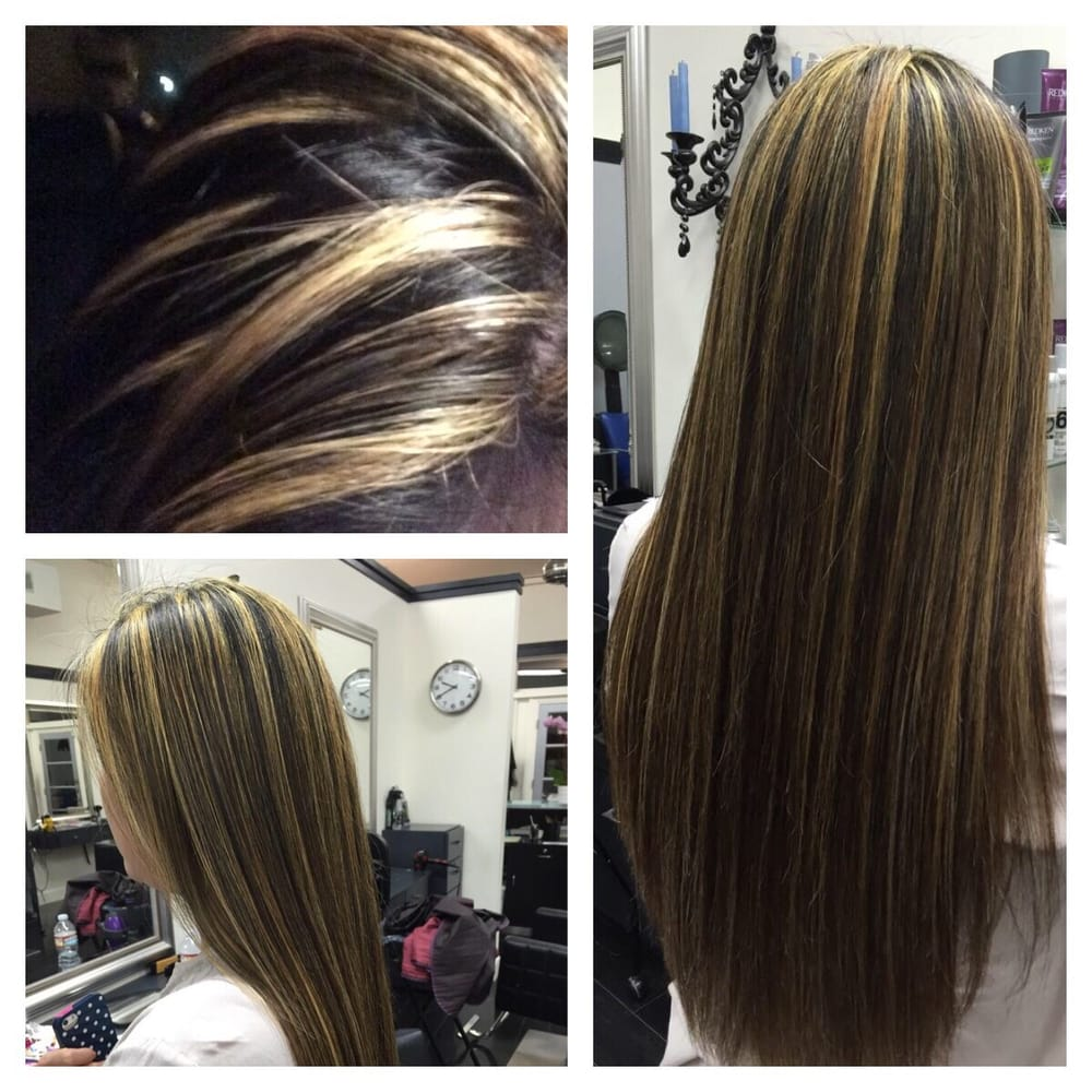 Root touch up and lighter highlights from cindy yelp for 1500 salon alameda