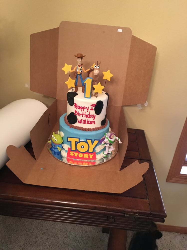 Toy Story 1st Birthday Cake With Figures Yelp