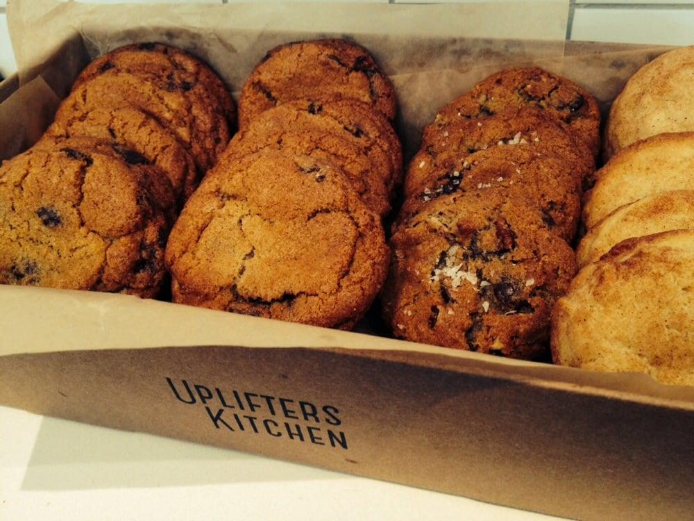 freshly baked cookies salted pecan chocolate chip