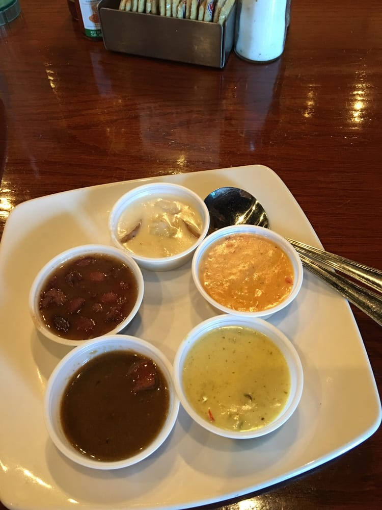 Free samples of gumbo clam chowder black beans yelp for Fish city grill