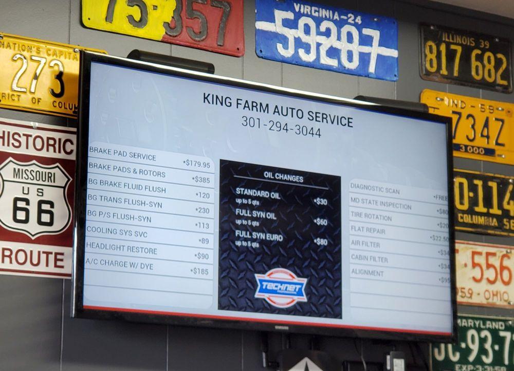 King Farm Auto Service: 15563 Frederick Rd, Rockville, MD