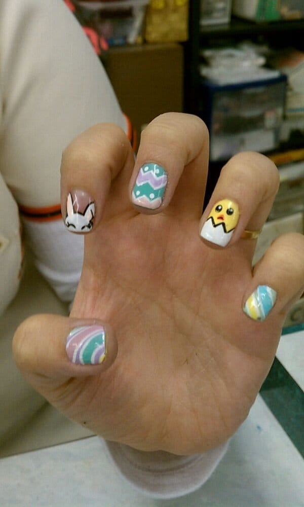 No chip manicure is no longer plain! Gelish with designs! - Yelp
