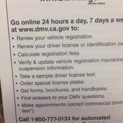 renewing drivers license ca test