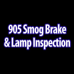 905 Smog Brake Amp Lamp Inspection Auto Repair 6960