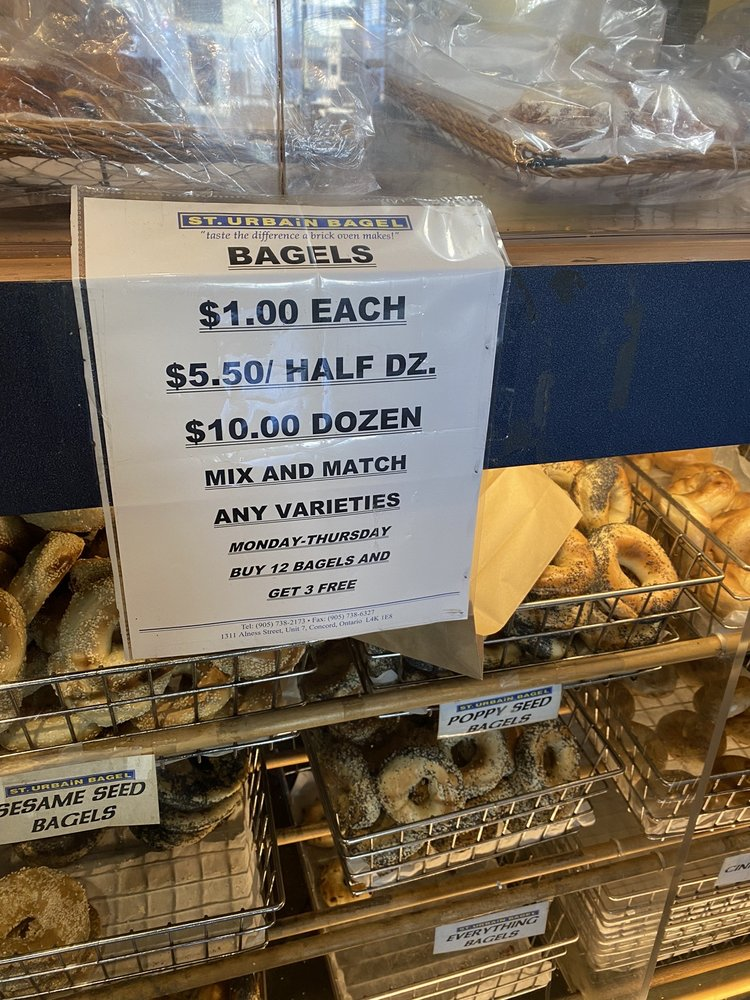 St Urbain Bagel Bakery