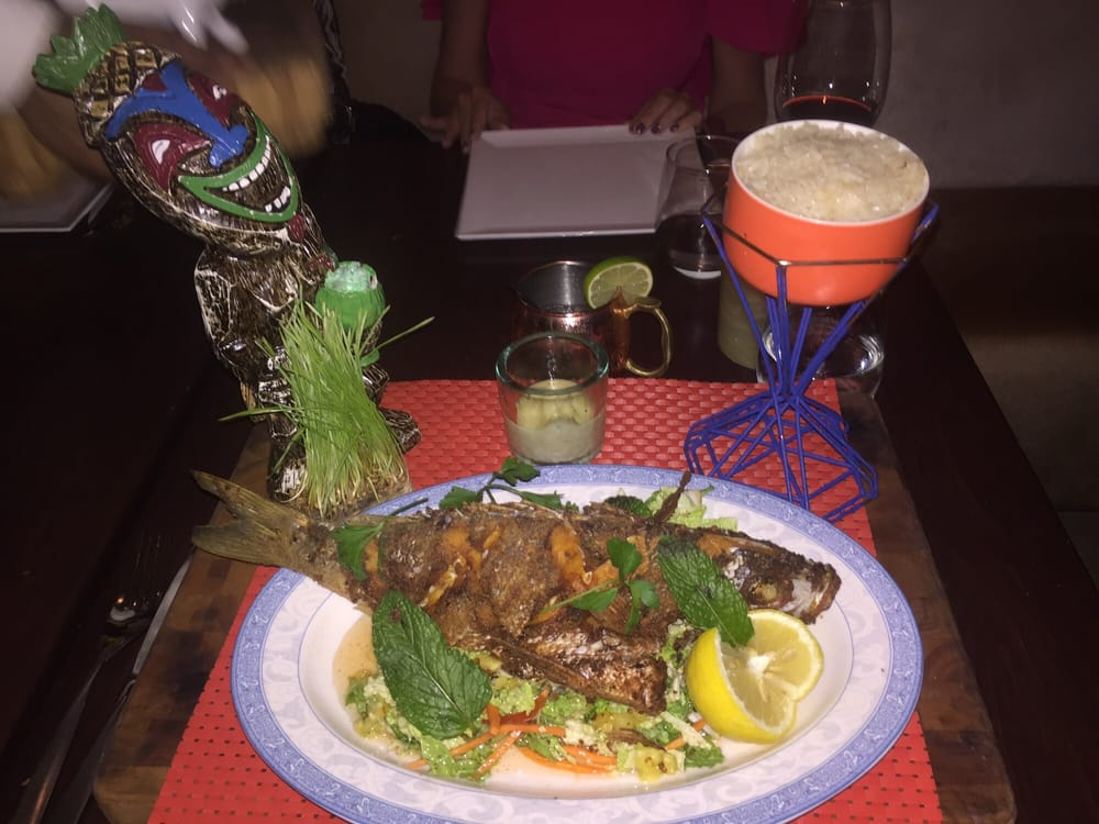 Polynesian fish fry crispy whole local snapper coconut for Local fish fry