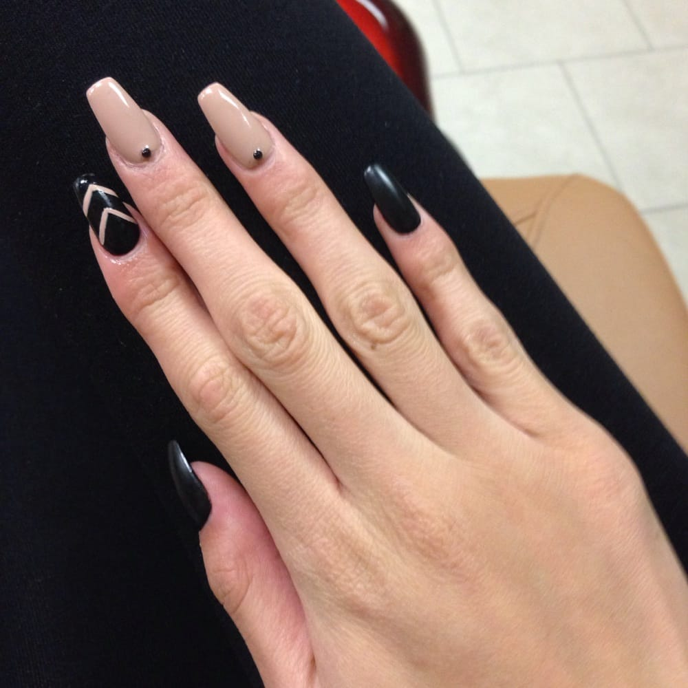 Fill with gel polish and gel matte top coat and design - Yelp