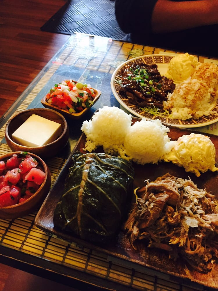 Kukui hawaiian plate special laulau kalua pug lomi for Aloha asian cuisine