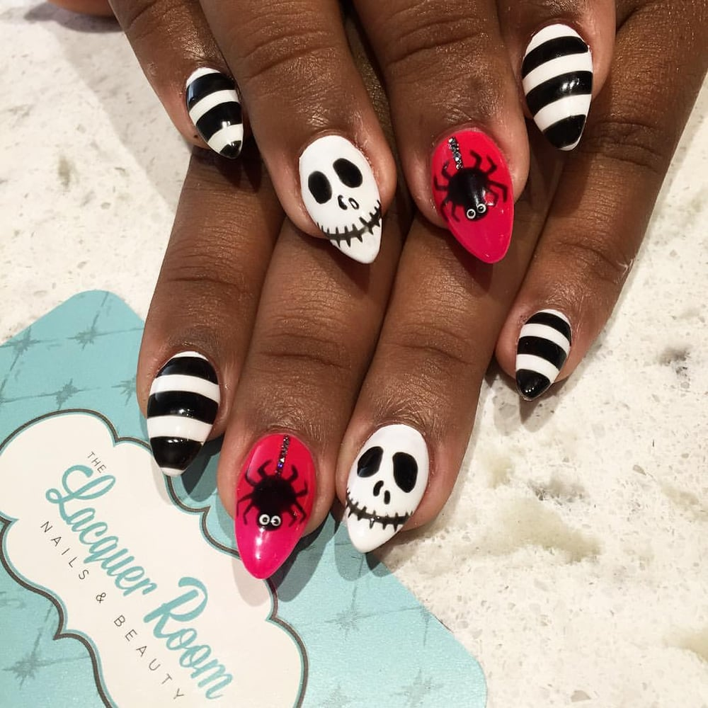 Acrylic refill and #JackSkellington and #spider design for ...