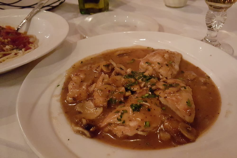 Chicken marsala small portion but absolutely delish 17 for Absolutely delish cuisine
