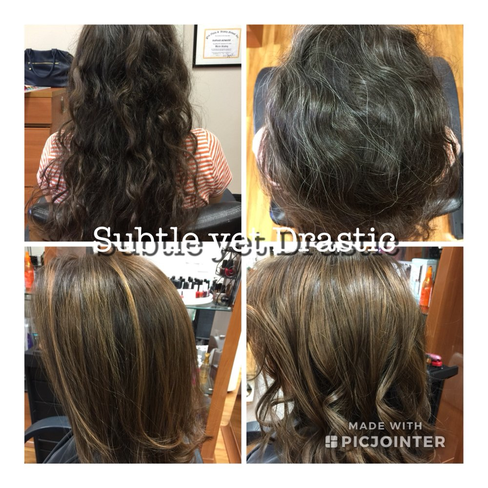 Highlights With Color On Virgin Hair Cut And Style A Total