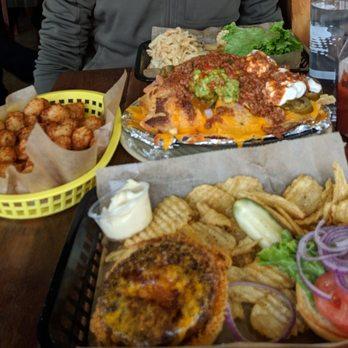 eba019bda0b247 Photo of Sports Spot - Fairfax, VA, United States. Nachos, brisket burger