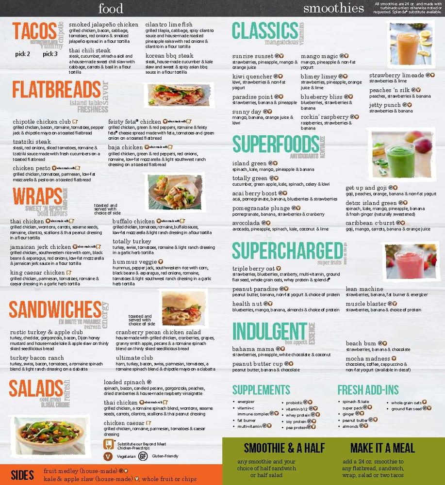 Tropical Smoothie Cafe Menu Prices