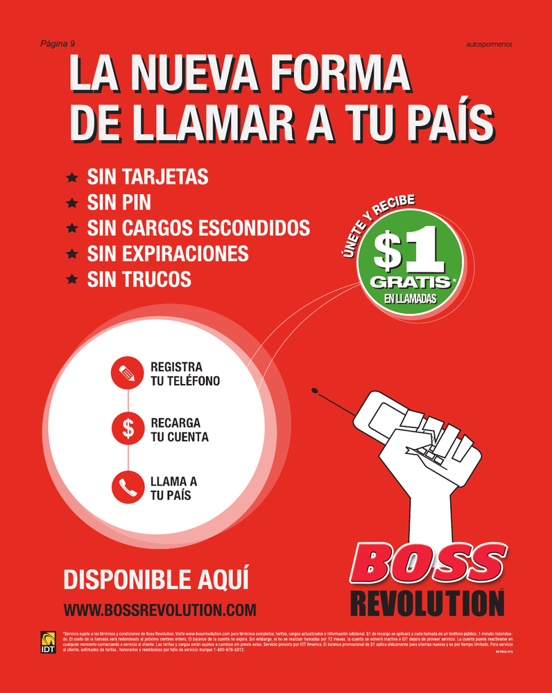 boss revolution number espanol