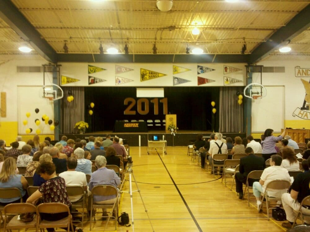 Andrew High School Gymnasium: 13 S Marion, Andrew, IA