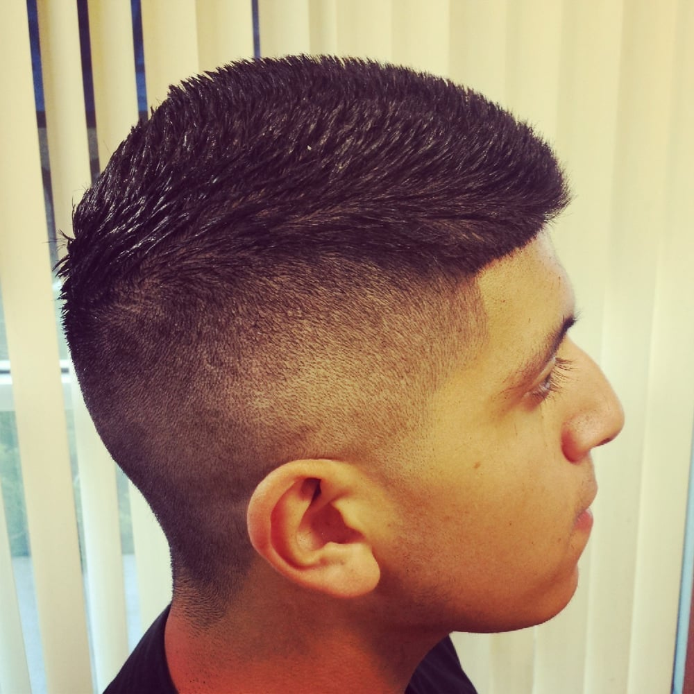 Clean Fauxhawk With A Taper And Line Up Done By My Barber Irene Yelp
