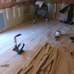 Photo of American Renovations - Greensboro, NC, United States. Hardwood flooring installation!