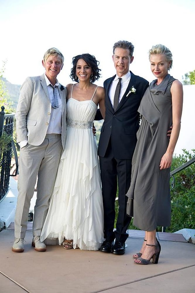 Ellen And Portia Wedding.Dj D The Wedding Of Vance Degeneres And His Lovely Bride Joanna His
