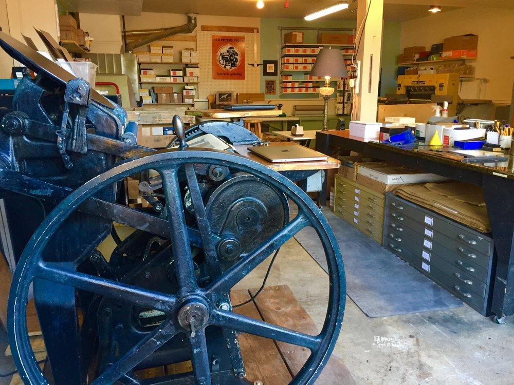 Reb Peters Press Letterpress Printing