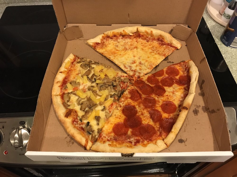 Food from Andy's Pizza