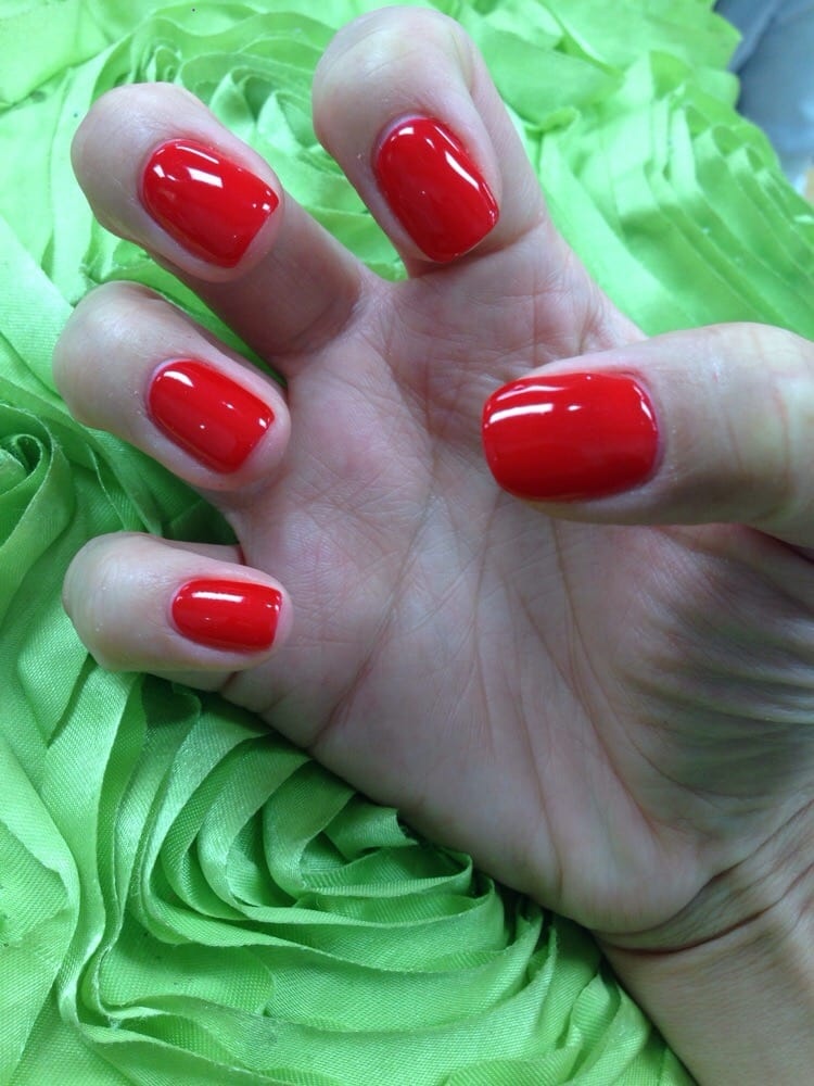 9c0c8004cc9c Loving my Ferrari Red Gel Nails - Yelp