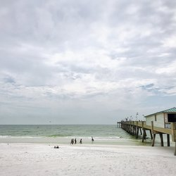 Photo Of Okaloosa Island Pier Fort Walton Beach Fl United States Cloudy
