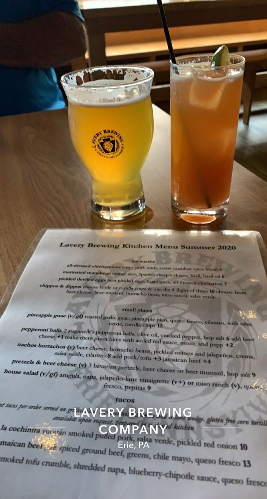 Food from Lavery Brewing