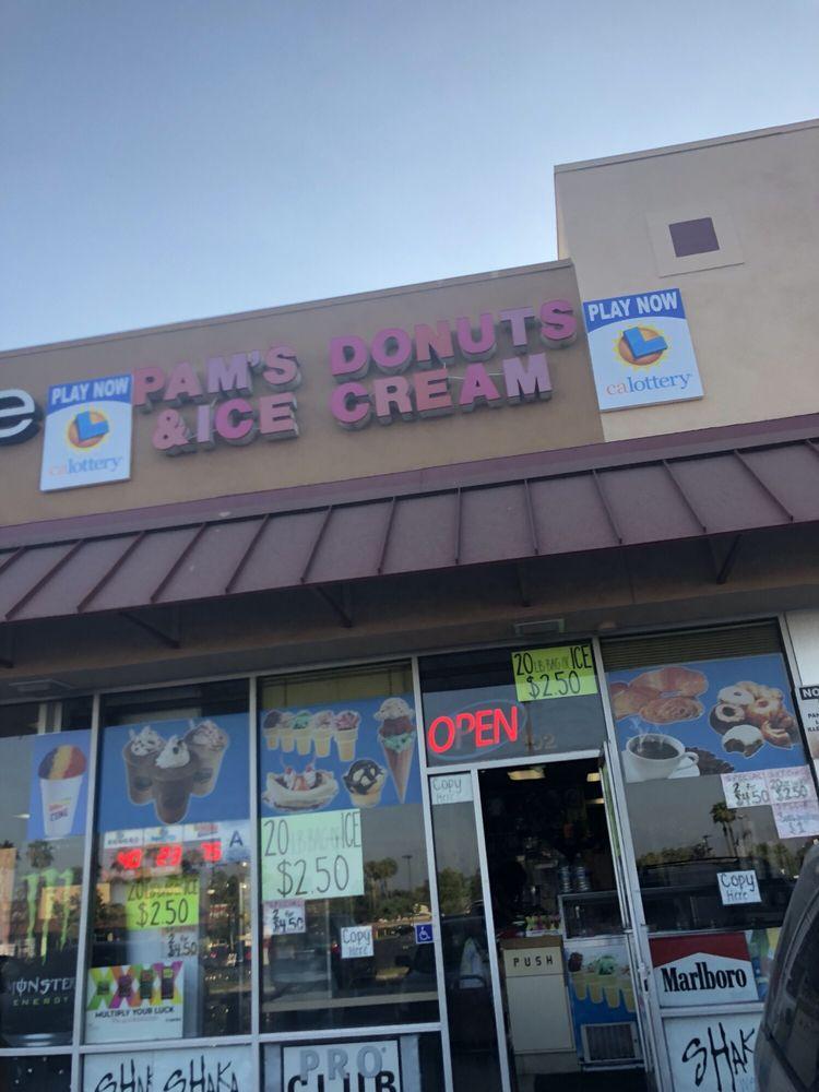 Pam's Donut & Ice Cream: 1588 W Base Line St, San Bernardino, CA