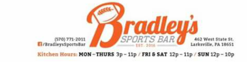 Bradley's Sports Bar: 462 W State St, Larksville, PA