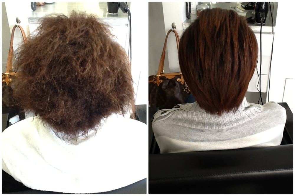 Before and after Brazilian Blowout! - Yelp