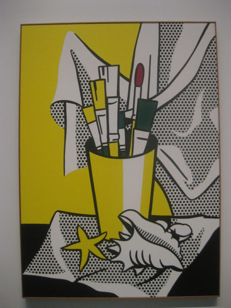 Lichtenstein still life with brushes shell and star for Kansas city star fishing report