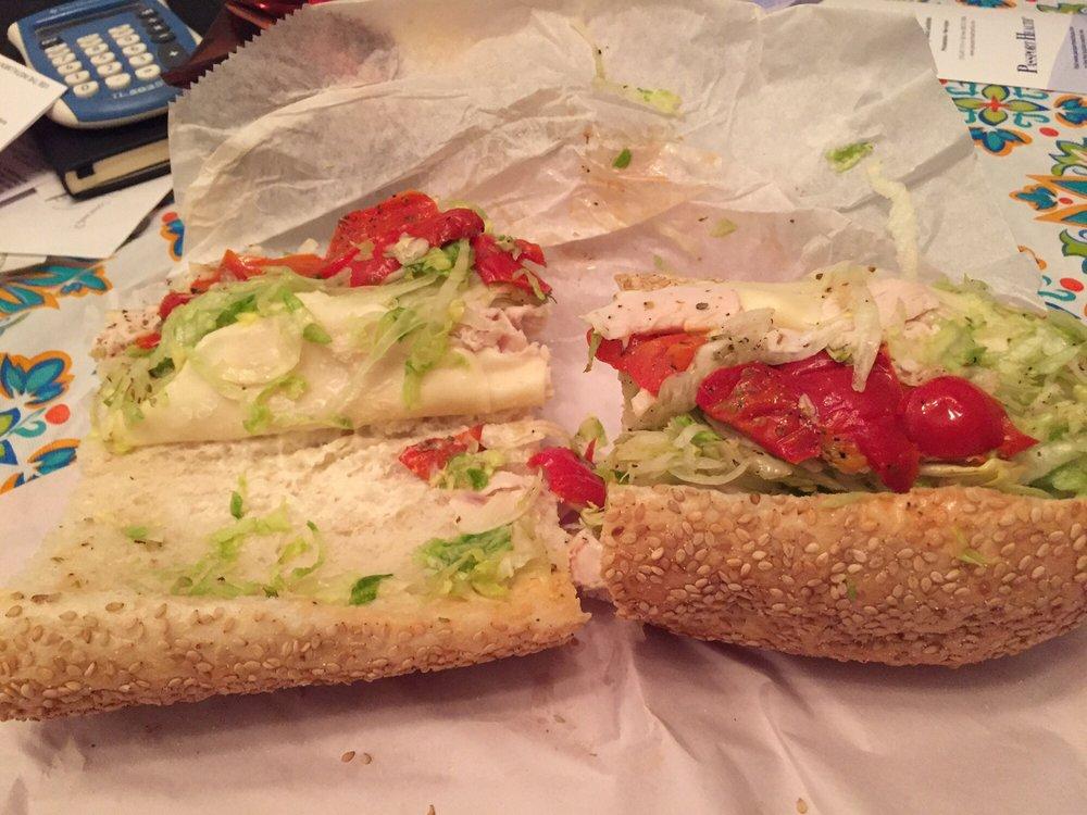 Food from Monty's Sandwich Shop