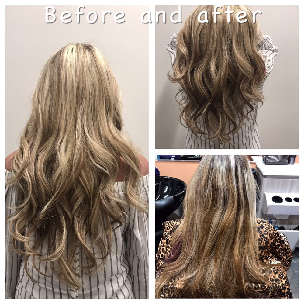 Highlight Blond Hair Long Hair Balayage Ombre Highlight Irvine Yelp